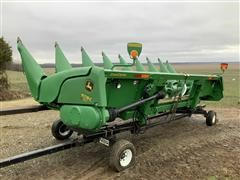 2012 John Deere 608C Corn Head & Trailer