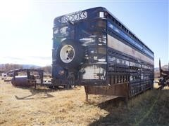 1970 Wilson 40' T/A Steel Cattle Pot Trailer