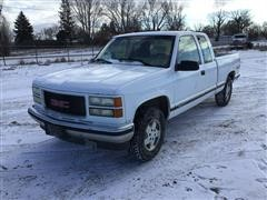 1995 GMC 1500 SLE 4x4 Extended Cab Pickup
