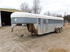 1989 Kiefer Built Gooseneck Livestock Trailer