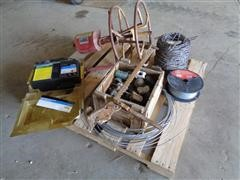 Electric Fencing, Zareba Electric Fencer & Wire Roller