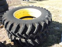 Firestone 20.8R42 Tires on John Deere Rims