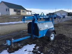 2002 Genie TML-4000N Light Plant On Trailer