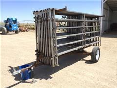 Shop Built Portable Cattle Panels W/Trailer