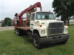 1988 Ford Conventional N LNT9000 Truck W/ IMT Model 13034 Crane