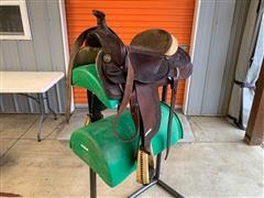 Hereford Brand Tex Tan Of Yoakum Riding Saddle