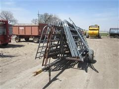 Portable Corral Gates On Cart