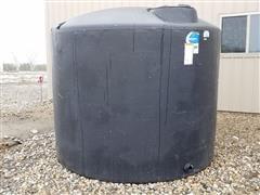 Ace Roto-Mold 1650 Gallon FDA Black Poly Upright Water Tank