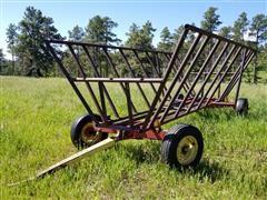 Farm King /Shop Made Hay Bunk On Running Gear
