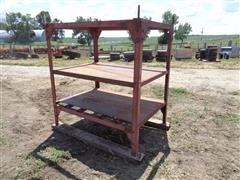 Shop Built Steel 3-Shelf Iron Rack