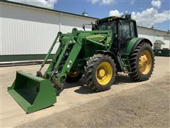 2003 John Deere 7520 MFWD Tractor W/JD 741 Loader
