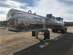 1994 Brenner MC 312 SS T/A Stainless Steel Tanker Trailer