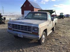 1984 Dodge Ram 4x4 Pickup