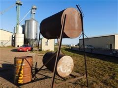 Fuel Tanks, Oil Barrel & Stand