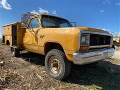 1989 Dodge Power Ram W350 4x4 Service Truck