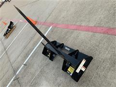 Mahindra Single Bale Spear Skid Steer Attachment