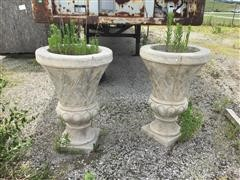 Al'S Garden Art Large Concrete Flower Planters