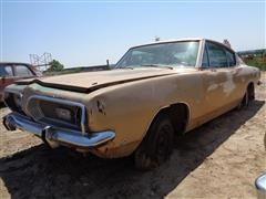 1968 Plymouth Barracuda 2 Door Fast Back Car For Parts