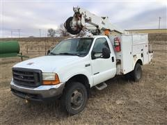 2000 Ford F550 Super Duty 4x4 Bucket Truck
