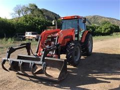 2002 Agco RT 95 MFWD Tractor W/Loader