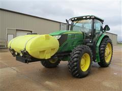 2013 John Deere 6140R MFWD Tractor W/Tank