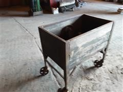 Homemade Wood Cart On Steel Caster Wheels