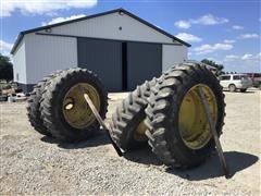 Firestone 18.4R42 Dual Combine Tires & John Deere Rims