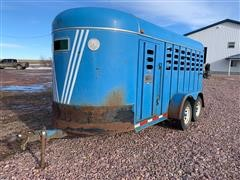 1987 Kiefer Built T/A Livestock Trailer