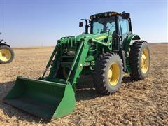 2011 John Deere 7530 Premium MFWD Tractor W/741 Self-Leveling Loader