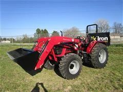 2018 Mahindra 60754FPIL MFWD Tractor W/Loader & Bucket
