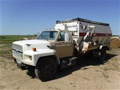 1994 Ford F700 Feed Truck with Harsh 375H TMR Mixer