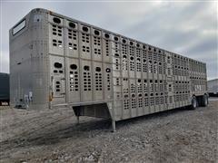 2004 Wilson PSCL-402 T/A 53' Aluminum Livestock Trailer