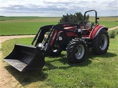 2014 Case IH Farmall 105C MFWD Tractor W/Loader