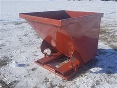 Self Dumping Hopper On Forklift Skid
