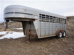 2004 Kiefer Built Stockman 16'X6' GN Livestock Trailer