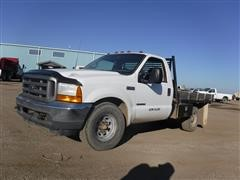 2001 Ford F350 Flatbed Pickup