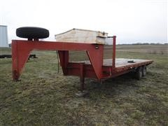1980 Home 20' T/A Flatbed Gooseneck Trailer