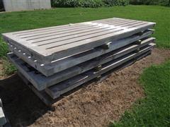 "4' X 10' X 4"" Thick Interlocking Slotted Flooring Panels"