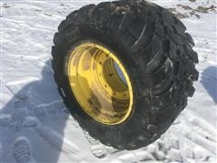 BKT Grassland 620/40R22.5 Radial Flotation Tire On Rim