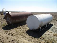 1000-Gallon Steel Fuel Tanks On Skids