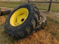 Mitas 16.9R30 Tires On JD Rims