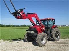 2008 Case International Puma 180 MFWD Tractor With Case International Model L765 Quick Tach Loader