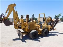 Vermeer V-4750 4x4 Trencher/Cable Plow/Backhoe With Front Push Blade