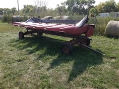 1997 Case IH 1064 Corn Header W/Trailer