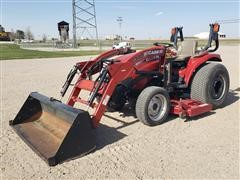 2009 Case IH CC31 MFWD Tractor W/Loader & Belly Mower