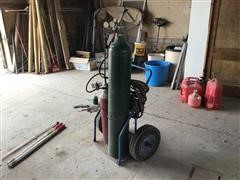 Oxygen/Acetylene Torch W/Bottles & Cart