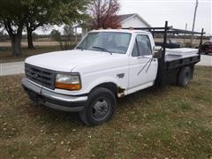1996 Ford F350 Flatbed Service Pickup