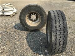 Michelin 315/80R22.5 Tires On 10-Hole Aluminum Rims