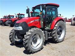 2013 Case International Farmall 95C Flat Deck Utility MFWD Tractor