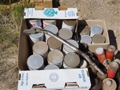 Texaco Oil Cans, Grease, Funnel